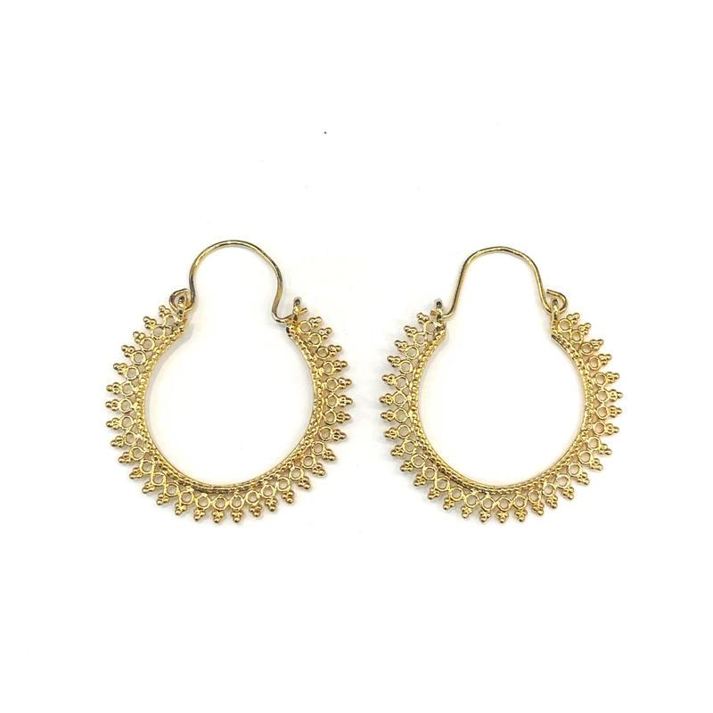 【VIDAKUSH】Filigree Hoop Earrings