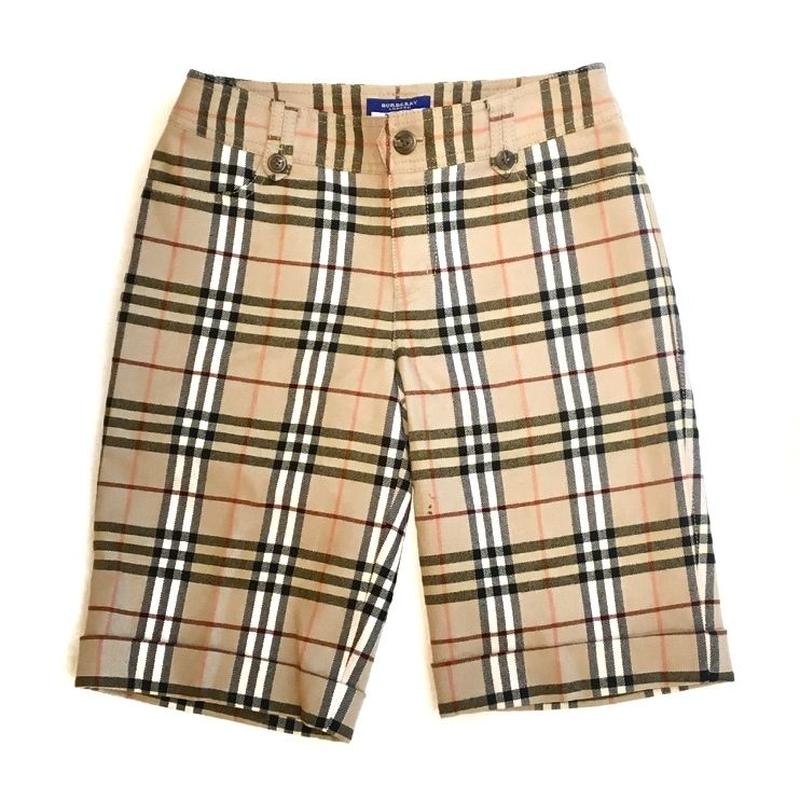 【BURBERRY】CHECK SHORT PANTS
