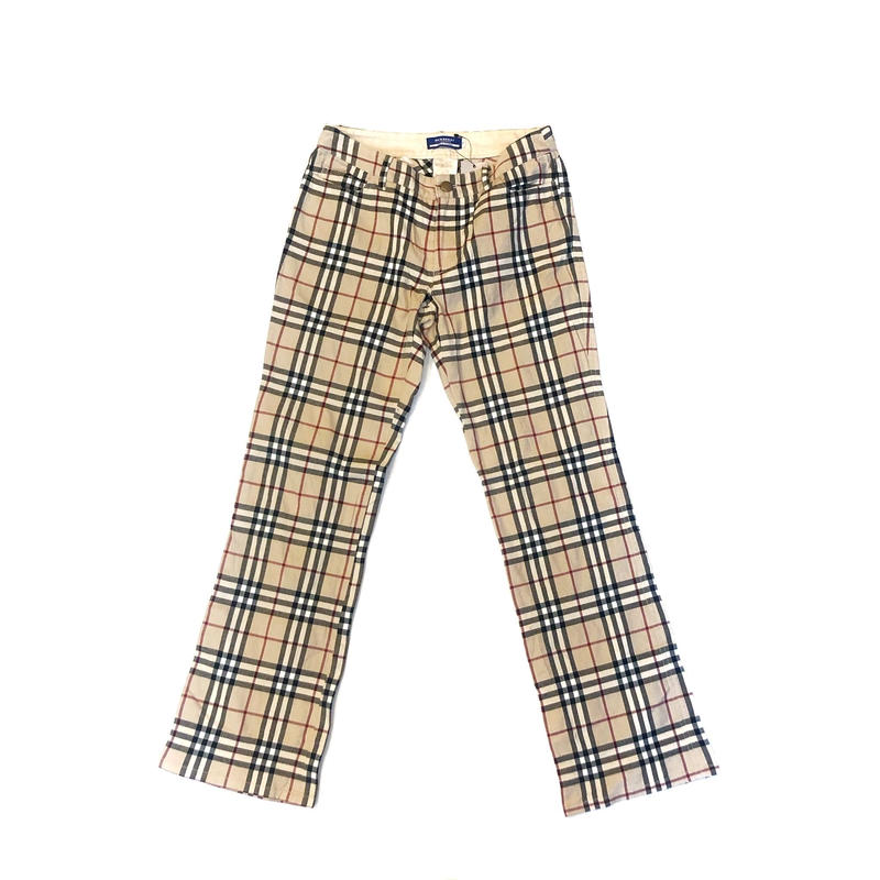 【Vintage BURBERRY】CHECK PANTS (BRA-12514376)