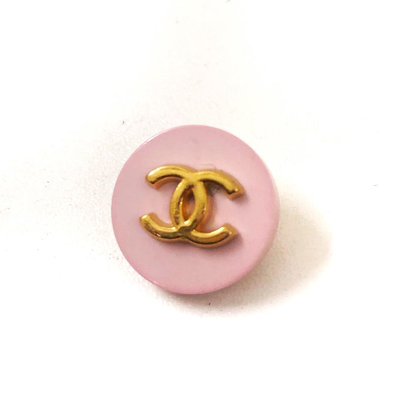 【Vintage CHANEL】Button SMALL pink