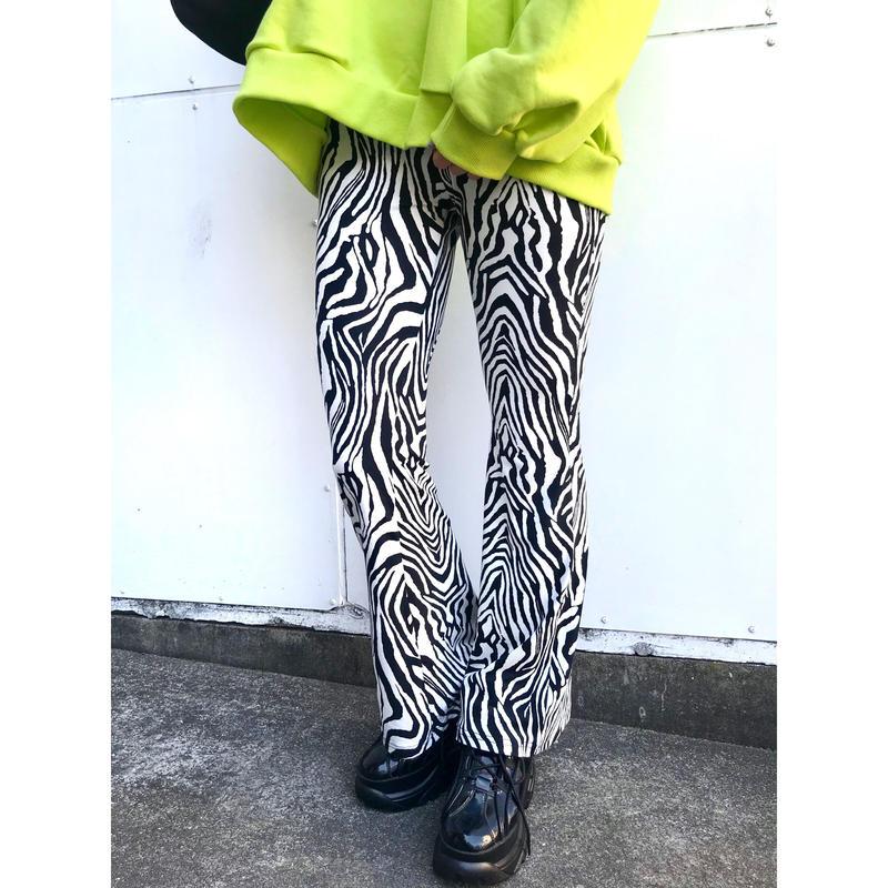 ZEBRA BELLBOTTOM PANTS