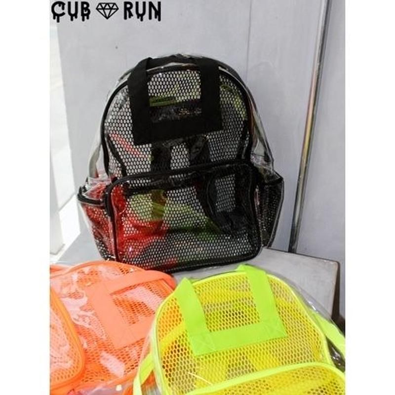 VINYL MESH BACKPACK