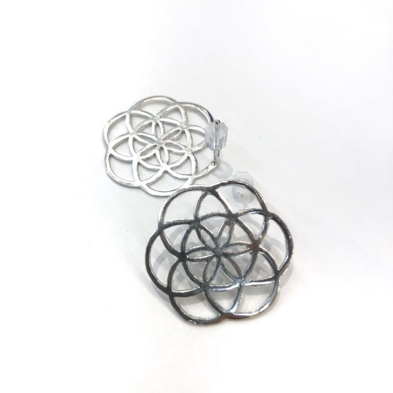 【VIDAKUSH】Flower of Life Stud Earrings