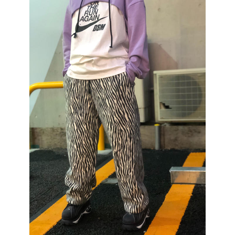 FLEECE ZEBRA EASY PANTS