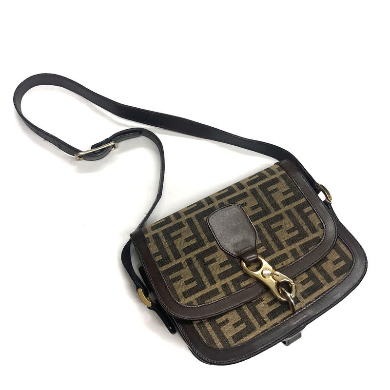 【Vintage FENDI】ZUCCA FLAP SHOULDER BAG