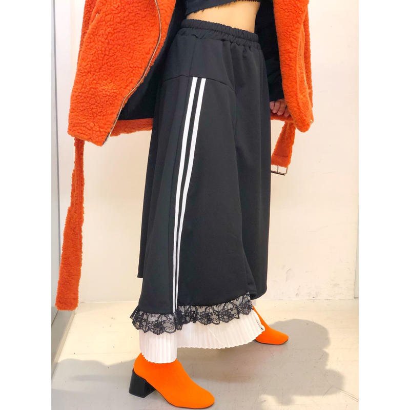【CUBRUN】SPORTY FAKE LAYERD SKIRT