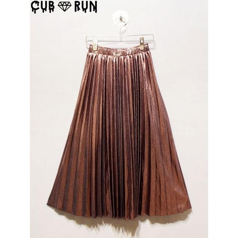PLEATS METAL SKIRT