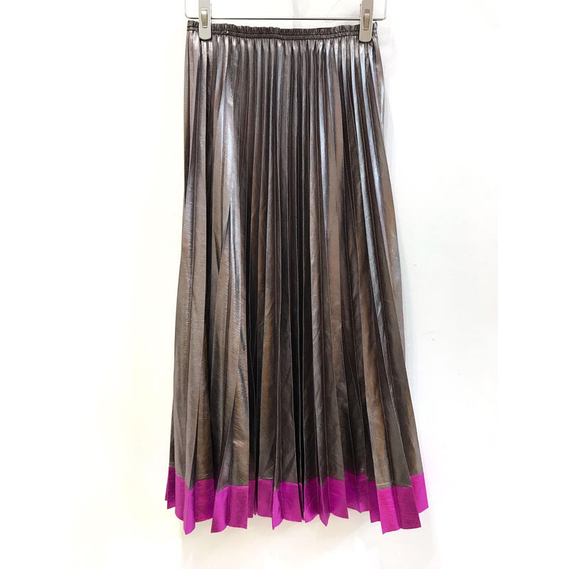 【CUBRUN】METAL SUSOKIRI PLEATS SKIRT