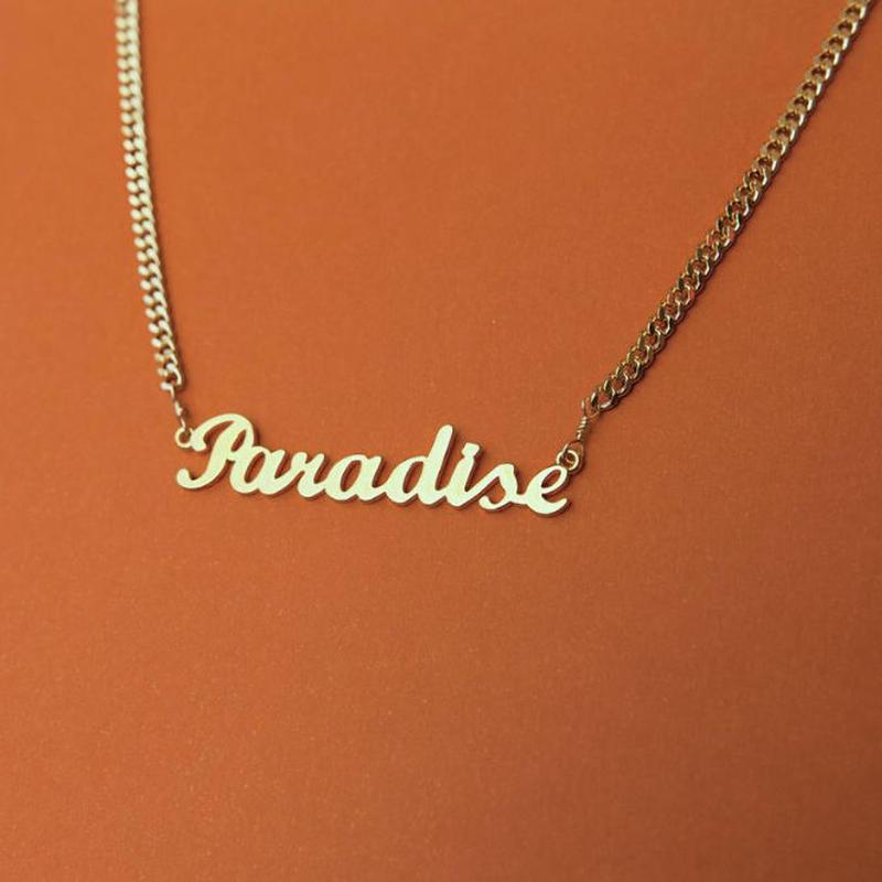 【VIDAKUSH】Paradise Namepla Choker