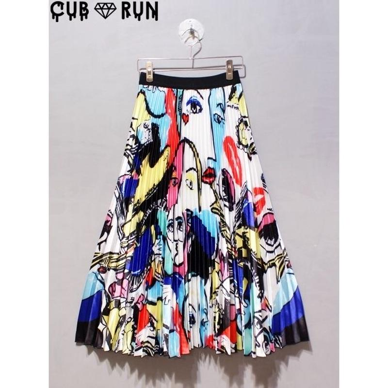 【CUBRUN 】PLEATS SKIRT