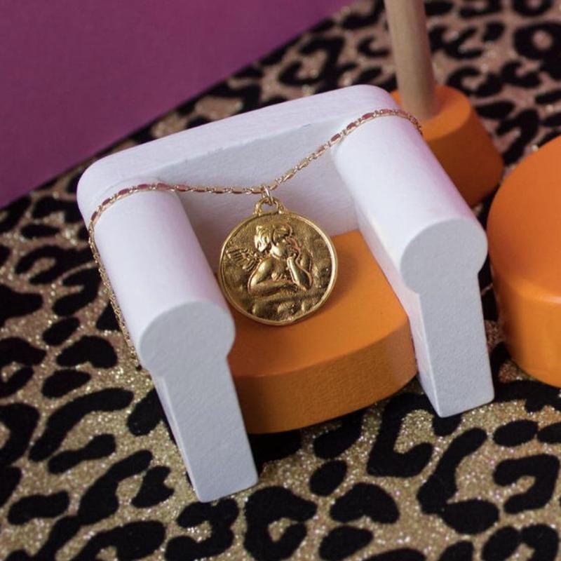 【VIDAKUSH】Cherub Coin Necklace