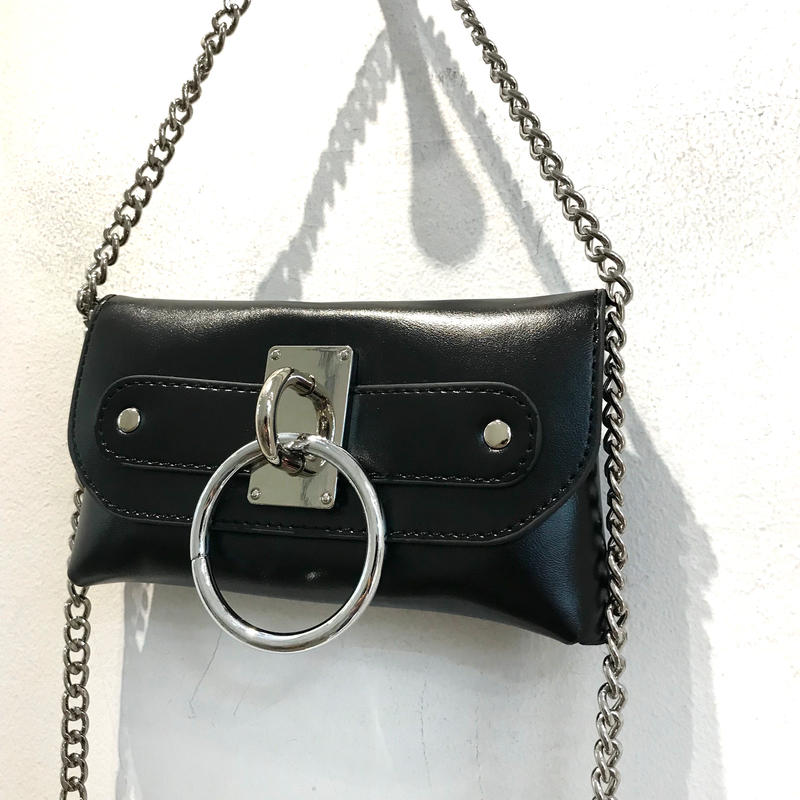 【CUBRUN】RING  CHAIN  SHOULDER BAG