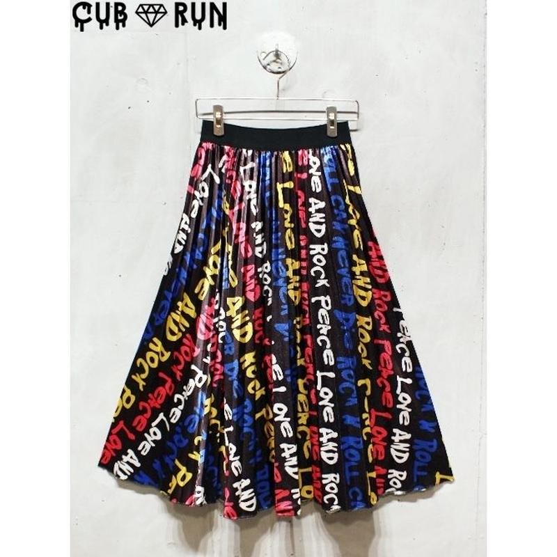【CUBRUN】MULTI LOGO SKIRT