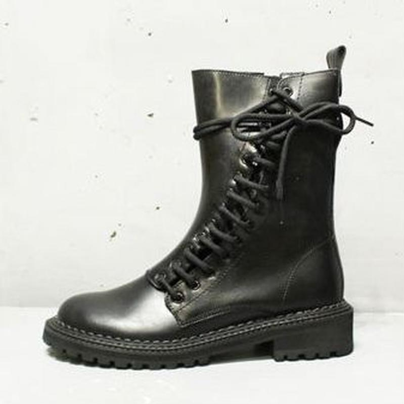 SIDE LACEUP BOOTS