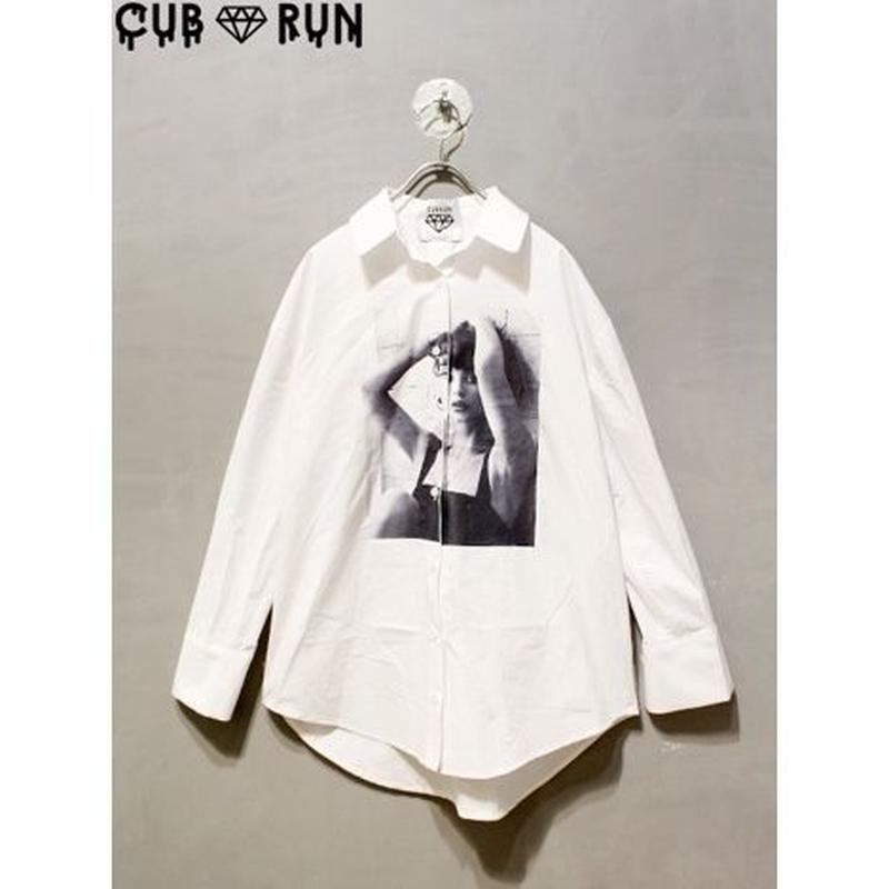 【CUBRUN】LADY PHOTO PRINT SHIRTS