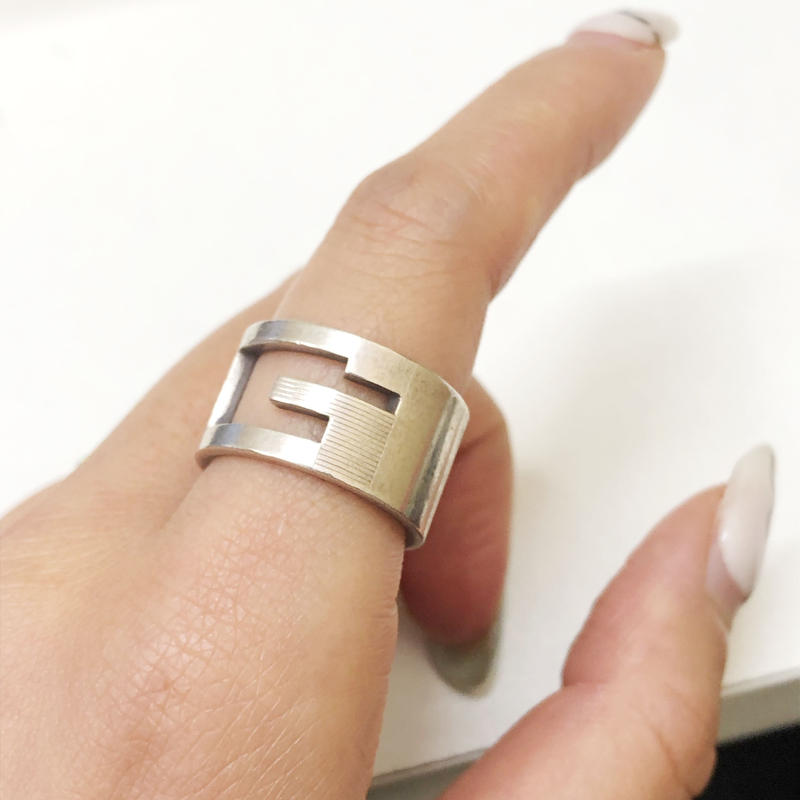 ≪Vintage GUCCI≫G WIDE RING 12号  1591199