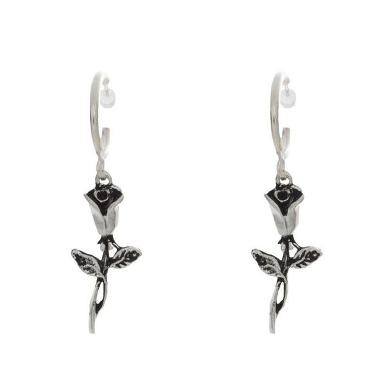 【VIDAKUSH】Rose Hoop Earrings