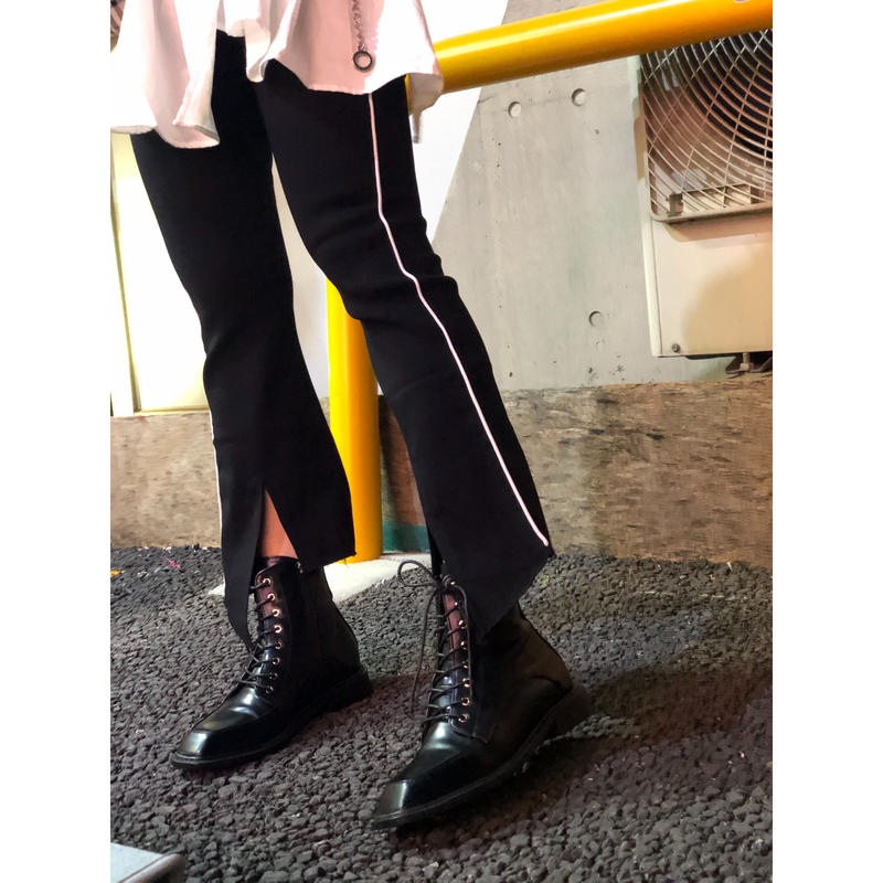 SLIT HEM BELLBOTTOM PANTS