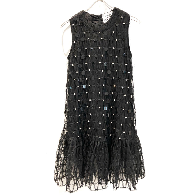 【CUBRUN】TULLE SPANGLE DRESS
