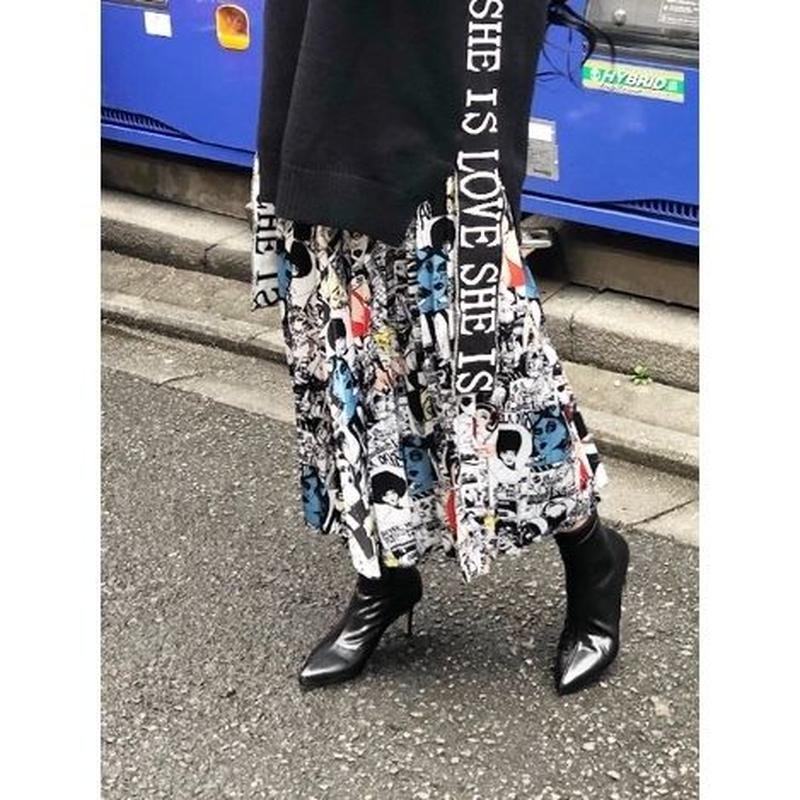 【CUBRUN】COMIC SKIRT