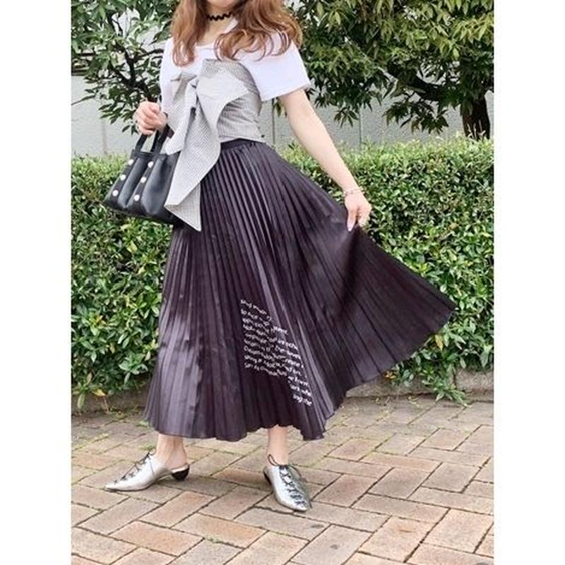 MESSAGE LOGO PLEATS SKIRT