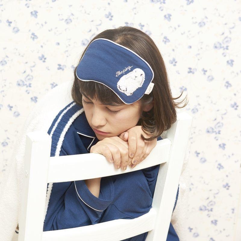 【ドライタッチラビット刺繍アイマスク】A40500-532