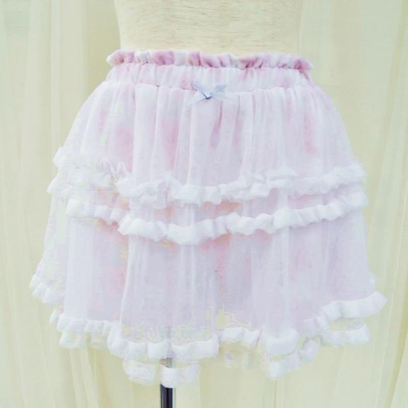 【フローラルミストスカートペチパンツ】P91362-531