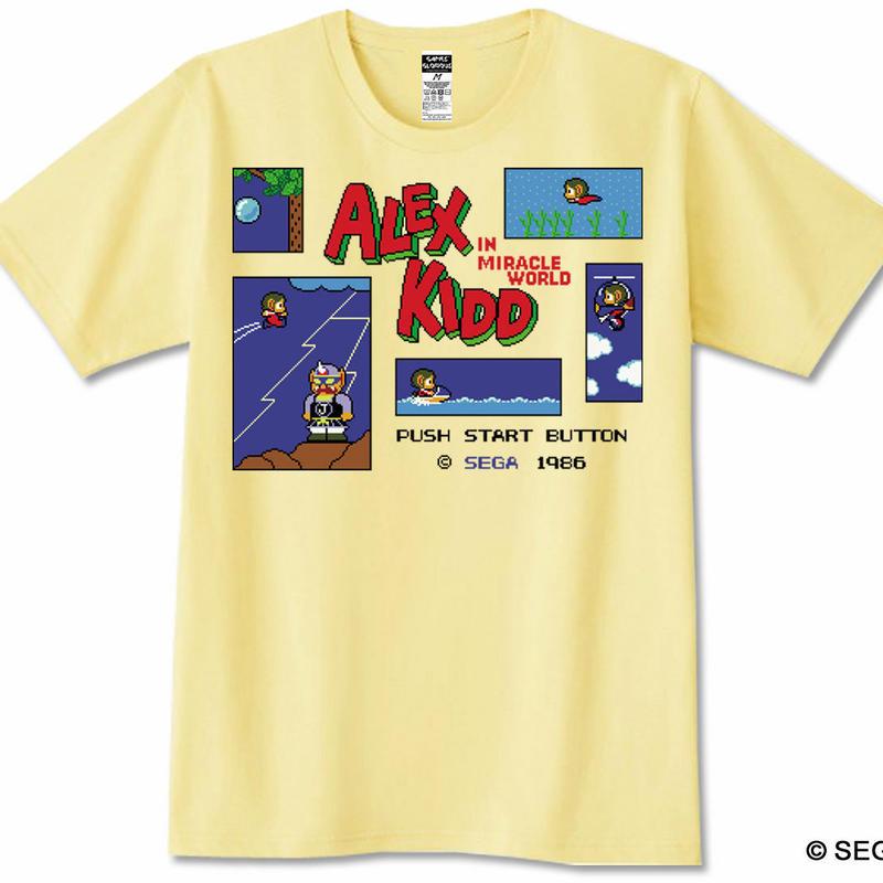 ALEX KIDD in Miracle World Tシャツ