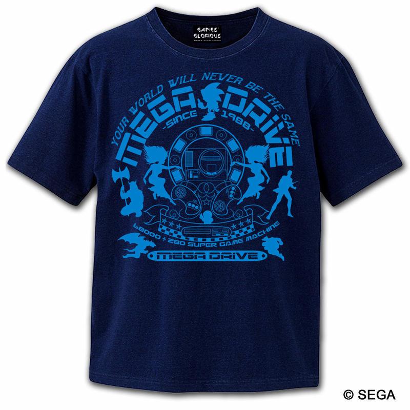 MEGA DRIVE 30th デニムスタイル Tシャツ -インディゴブルー-
