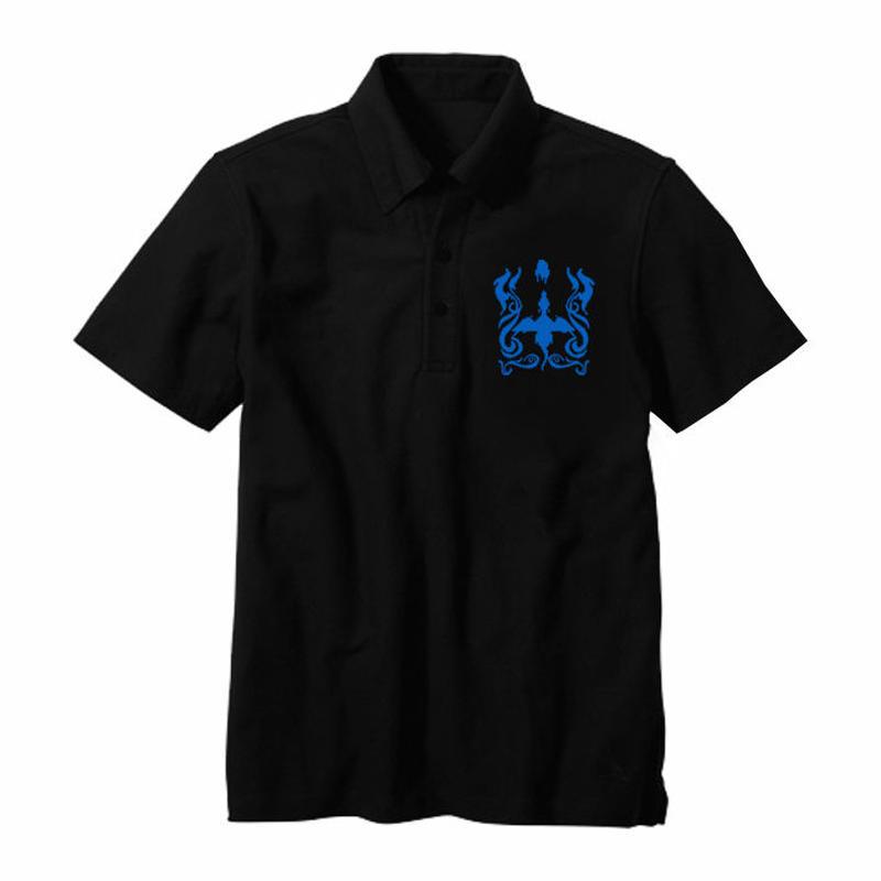 限定30着!ドラゴンスピリット 「Single Head Polo-Shirt」-BLACK-