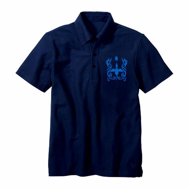 限定30着!ドラゴンスピリット 「Single Head Polo-Shirt」-NAVY-