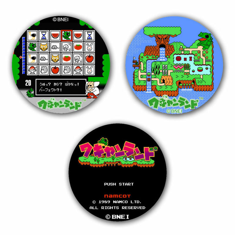【Wagan Land】Button Badge  (3-piece set)