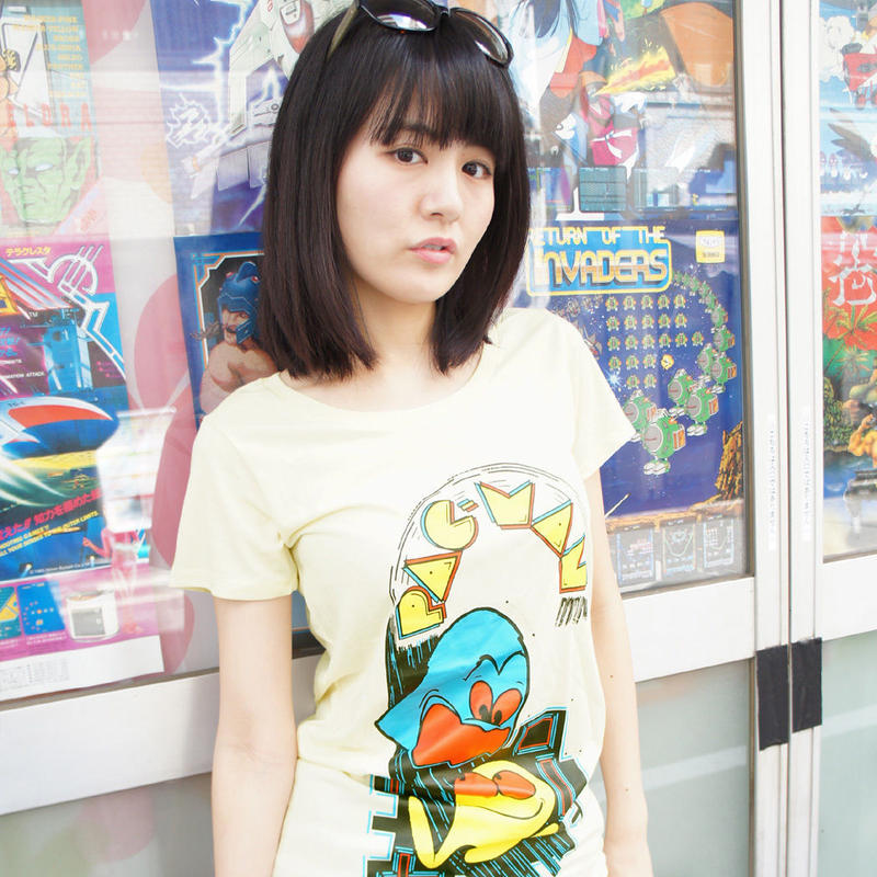 PAC-MAN Arcade Art Tunique Tee (Baby Yellow)