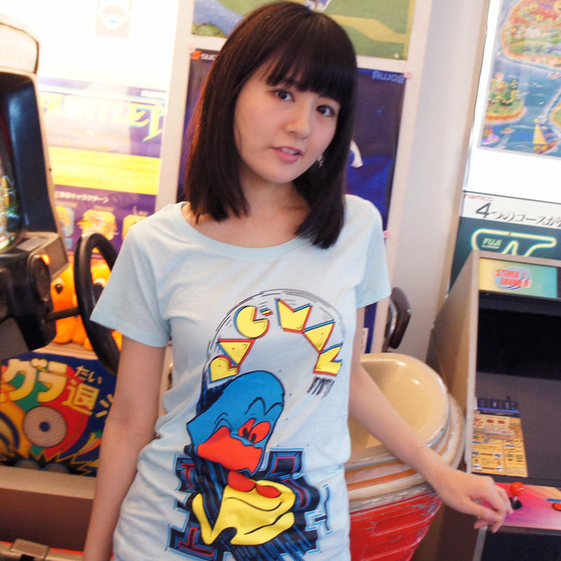 PAC-MAN Arcade Art Tunique Tee (Sky Blue)