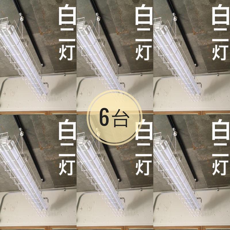6台 ×【W-2LG02】ダクトレール用LEDライト ガード付き  2灯