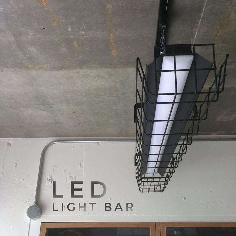 【B-LSG】LEDライトバー 一体型  笠、 ガード付き  つや消しブラック