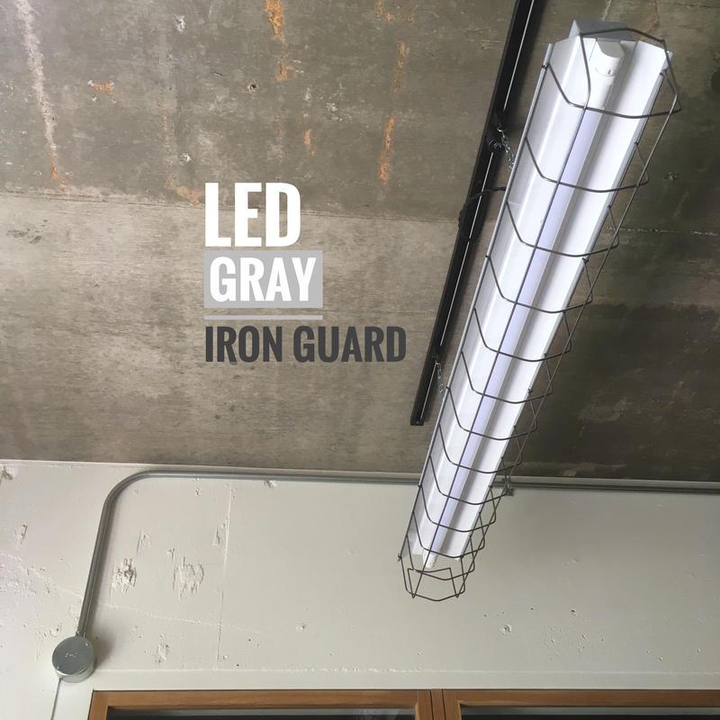 【GR-1LGSD】 1灯LEDライト 笠、ガード一体型  ツヤ消しグレー ダクトレール用