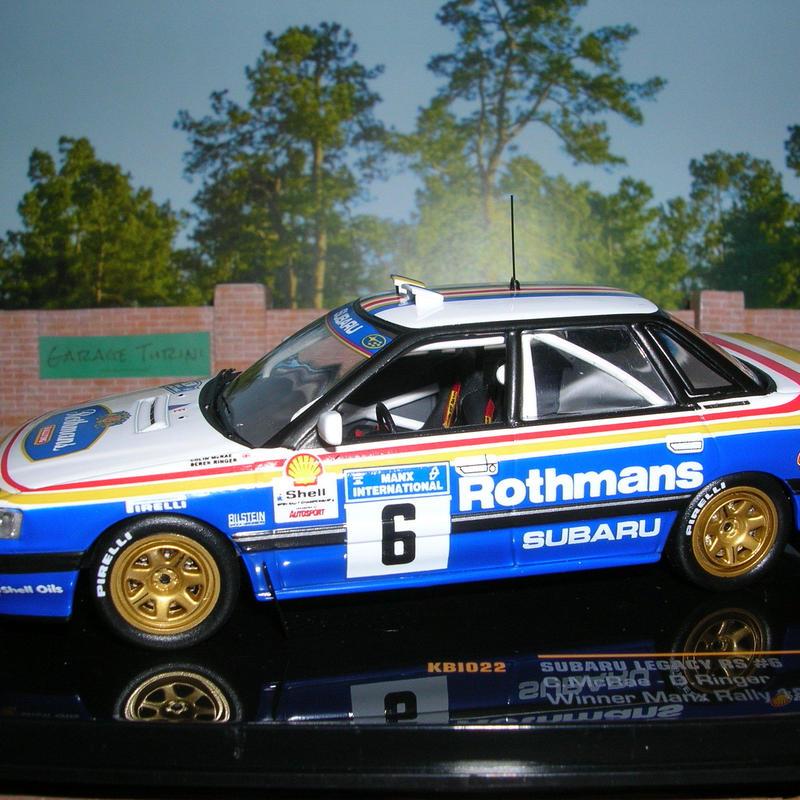イクソ モデル スバル レガシー RS(#6)マンクス インターナショナル ラリー 1991年