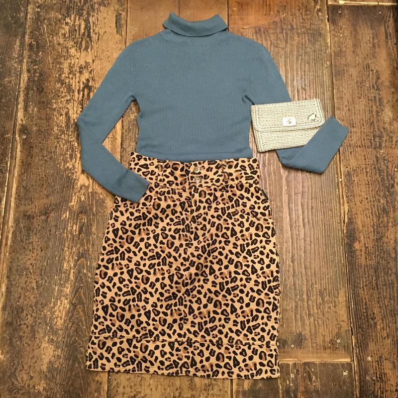 [USED] レオパード柄ハイウエストタイトスカート