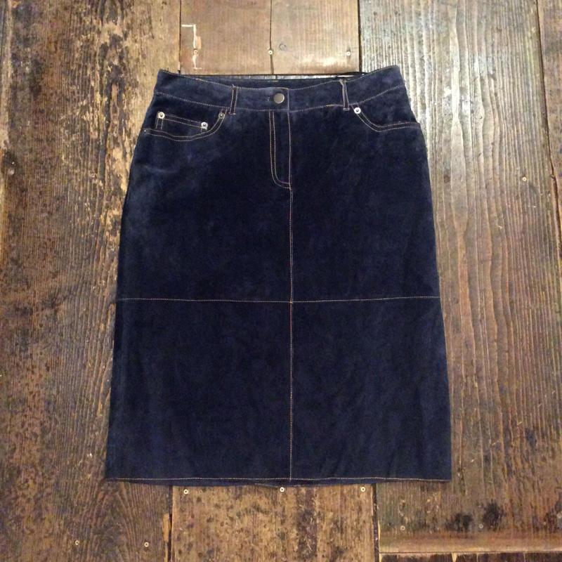 [USED]スエードミディアムロング丈スカート