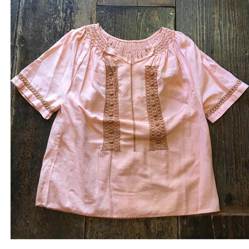 [USED] ピンク刺繍チュニック