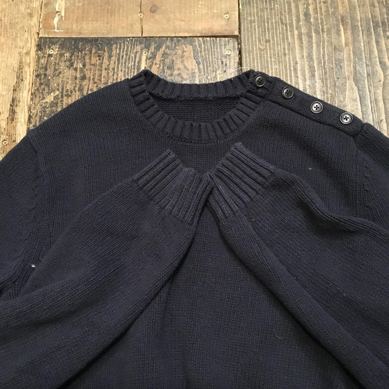 [USED] ゆったり気持ち〜い!Navy COTTON KNIT