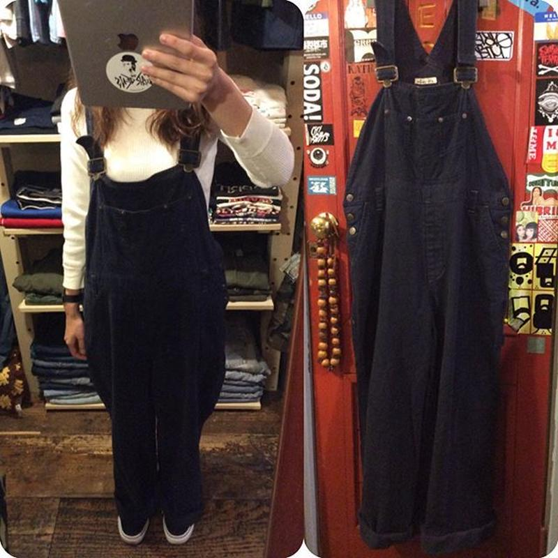 [USED] BLACK COTTON OVERALL