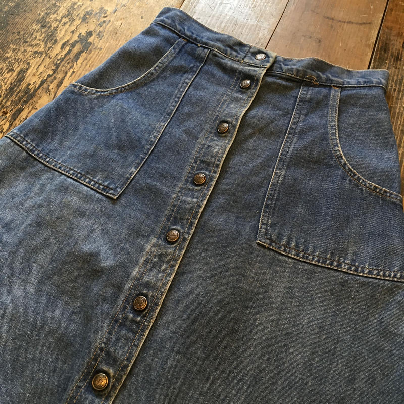 [USED] OLD  Denim skirt