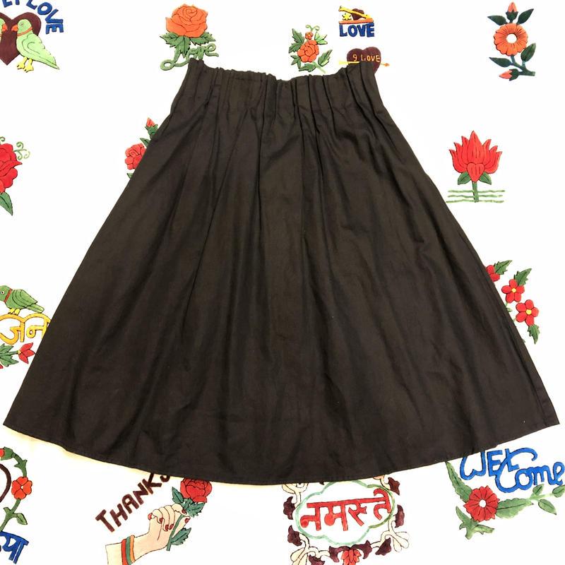 [USED] BLACK ギャザースカート