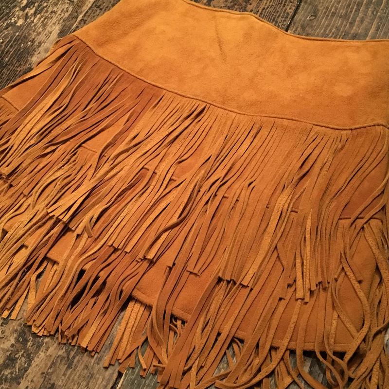 [USED] スエードフリンジ スカート