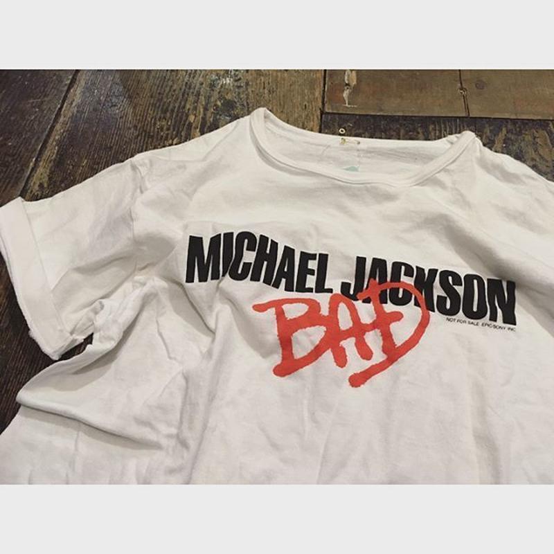 [USED] マイケルジャクソン BAD tee