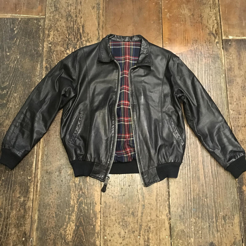 [USED] real leather リバーシブル JKT