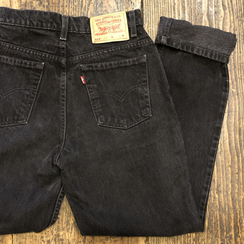 [USED] Levi's 512 SLIM BLACK DENIM