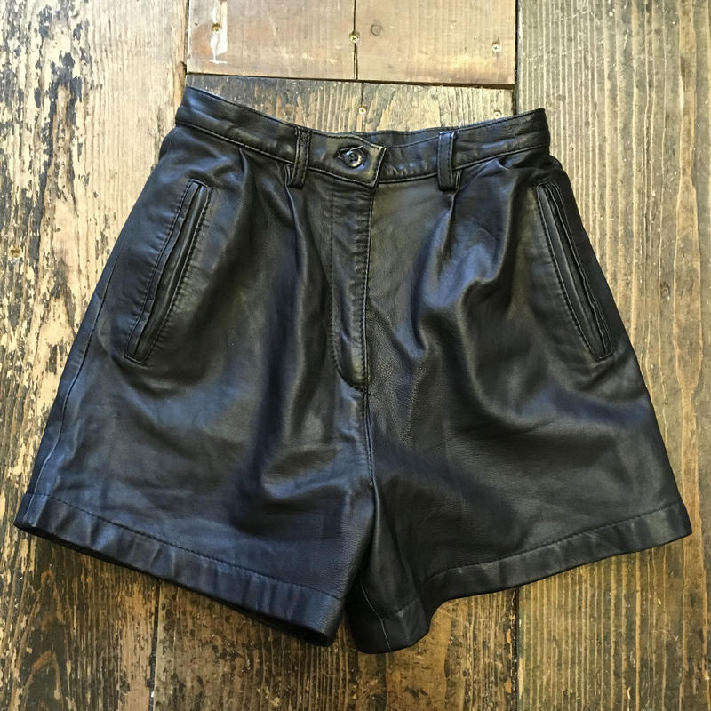 [USED] high-waist!! rether SHORTS